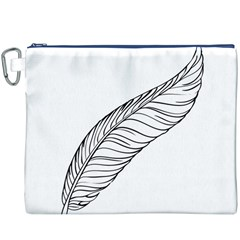 Feather Line Art Canvas Cosmetic Bag (XXXL)
