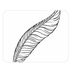 Feather Line Art Double Sided Flano Blanket (Large)