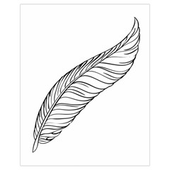 Feather Line Art Drawstring Bag (small)