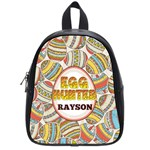 Egg Hunter colorful School Bag (Small) Front