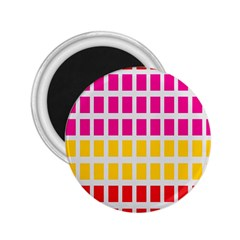 Squares Pattern Background Colorful Squares Wallpaper 2.25  Magnets