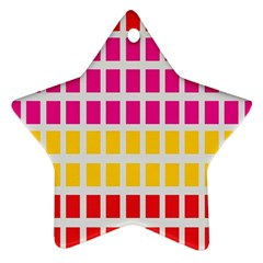 Squares Pattern Background Colorful Squares Wallpaper Ornament (star)