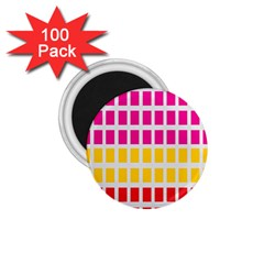 Squares Pattern Background Colorful Squares Wallpaper 1.75  Magnets (100 pack)