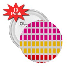 Squares Pattern Background Colorful Squares Wallpaper 2 25  Buttons (10 Pack)