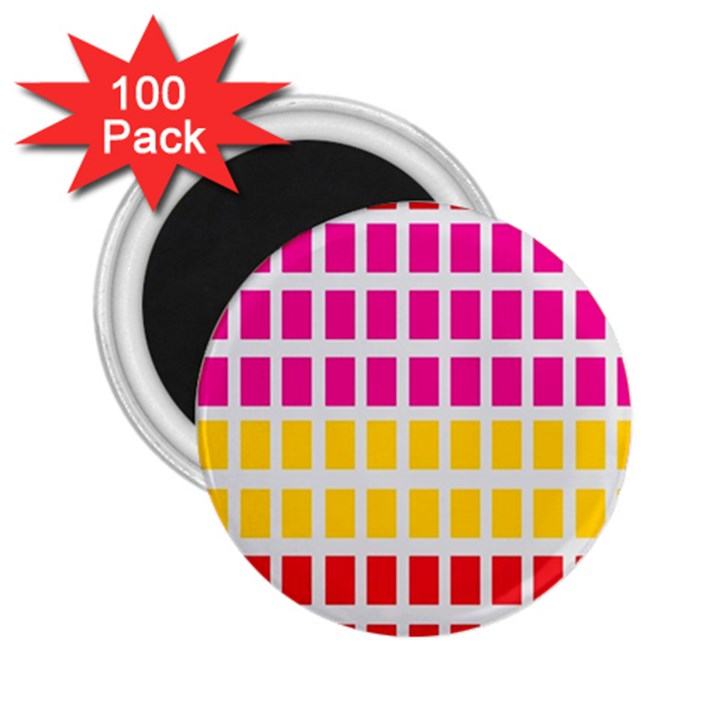 Squares Pattern Background Colorful Squares Wallpaper 2.25  Magnets (100 pack)