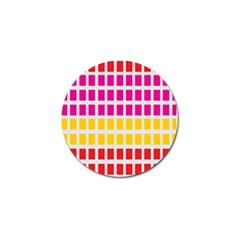 Squares Pattern Background Colorful Squares Wallpaper Golf Ball Marker (4 Pack)