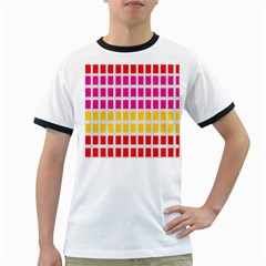Squares Pattern Background Colorful Squares Wallpaper Ringer T Shirts