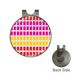 Squares Pattern Background Colorful Squares Wallpaper Hat Clips with Golf Markers