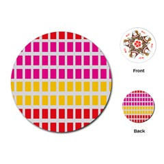 Squares Pattern Background Colorful Squares Wallpaper Playing Cards (Round)