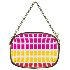 Squares Pattern Background Colorful Squares Wallpaper Chain Purses (One Side)