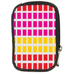 Squares Pattern Background Colorful Squares Wallpaper Compact Camera Cases
