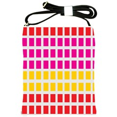 Squares Pattern Background Colorful Squares Wallpaper Shoulder Sling Bags