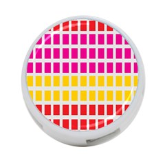Squares Pattern Background Colorful Squares Wallpaper 4 Port Usb Hub (one Side)