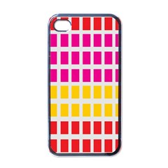 Squares Pattern Background Colorful Squares Wallpaper Apple Iphone 4 Case (black)