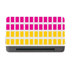 Squares Pattern Background Colorful Squares Wallpaper Memory Card Reader with CF