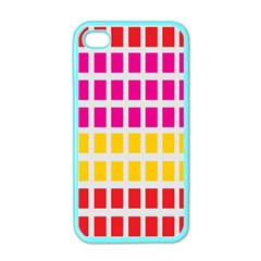 Squares Pattern Background Colorful Squares Wallpaper Apple iPhone 4 Case (Color)