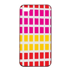 Squares Pattern Background Colorful Squares Wallpaper Apple iPhone 4/4s Seamless Case (Black)