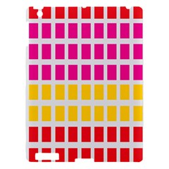 Squares Pattern Background Colorful Squares Wallpaper Apple iPad 3/4 Hardshell Case
