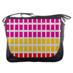 Squares Pattern Background Colorful Squares Wallpaper Messenger Bags