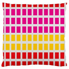 Squares Pattern Background Colorful Squares Wallpaper Large Cushion Case (Two Sides)