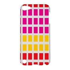 Squares Pattern Background Colorful Squares Wallpaper Apple iPod Touch 5 Hardshell Case
