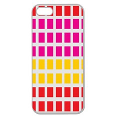 Squares Pattern Background Colorful Squares Wallpaper Apple Seamless iPhone 5 Case (Clear)