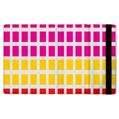 Squares Pattern Background Colorful Squares Wallpaper Apple Ipad 3/4 Flip Case