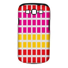 Squares Pattern Background Colorful Squares Wallpaper Samsung Galaxy S Iii Classic Hardshell Case (pc+silicone)