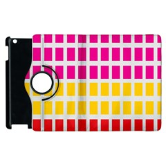 Squares Pattern Background Colorful Squares Wallpaper Apple iPad 2 Flip 360 Case