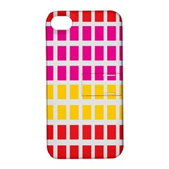 Squares Pattern Background Colorful Squares Wallpaper Apple iPhone 4/4S Hardshell Case with Stand