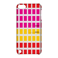 Squares Pattern Background Colorful Squares Wallpaper Apple Ipod Touch 5 Hardshell Case With Stand