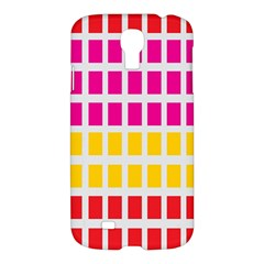 Squares Pattern Background Colorful Squares Wallpaper Samsung Galaxy S4 I9500/I9505 Hardshell Case