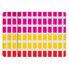 Squares Pattern Background Colorful Squares Wallpaper Samsung Galaxy Tab 10.1  P7500 Flip Case