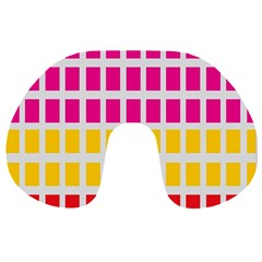 Squares Pattern Background Colorful Squares Wallpaper Travel Neck Pillows