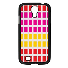 Squares Pattern Background Colorful Squares Wallpaper Samsung Galaxy S4 I9500/ I9505 Case (black)