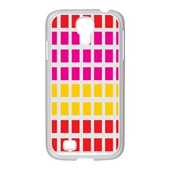 Squares Pattern Background Colorful Squares Wallpaper Samsung Galaxy S4 I9500/ I9505 Case (white)