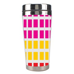 Squares Pattern Background Colorful Squares Wallpaper Stainless Steel Travel Tumblers