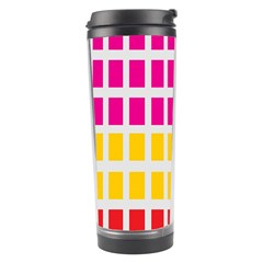Squares Pattern Background Colorful Squares Wallpaper Travel Tumbler