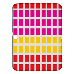 Squares Pattern Background Colorful Squares Wallpaper Samsung Galaxy Tab 3 (10.1 ) P5200 Hardshell Case