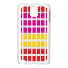 Squares Pattern Background Colorful Squares Wallpaper Samsung Galaxy Note 3 N9005 Case (White)