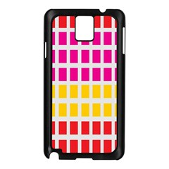 Squares Pattern Background Colorful Squares Wallpaper Samsung Galaxy Note 3 N9005 Case (Black)