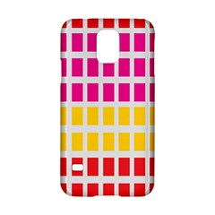 Squares Pattern Background Colorful Squares Wallpaper Samsung Galaxy S5 Hardshell Case