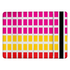 Squares Pattern Background Colorful Squares Wallpaper Samsung Galaxy Tab Pro 12 2  Flip Case