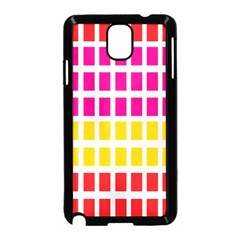 Squares Pattern Background Colorful Squares Wallpaper Samsung Galaxy Note 3 Neo Hardshell Case (Black)