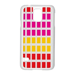 Squares Pattern Background Colorful Squares Wallpaper Samsung Galaxy S5 Case (White)