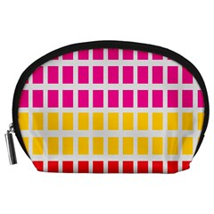 Squares Pattern Background Colorful Squares Wallpaper Accessory Pouches (Large)