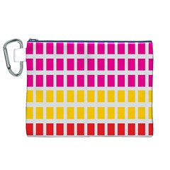 Squares Pattern Background Colorful Squares Wallpaper Canvas Cosmetic Bag (XL)