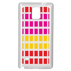 Squares Pattern Background Colorful Squares Wallpaper Samsung Galaxy Note 4 Case (white)