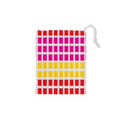 Squares Pattern Background Colorful Squares Wallpaper Drawstring Pouches (XS)