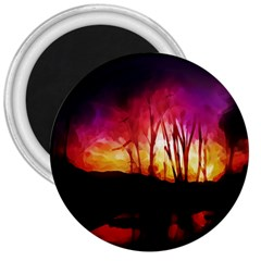 Fall Forest Background 3  Magnets